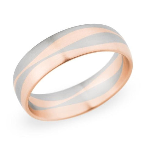 Christian Bauer Wedding Band (14K Red & White Gold) - Engagement Boston
