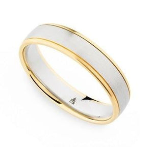 Christian Bauer Wedding Band (18K Gold W/ Palladium) - Engagement Boston