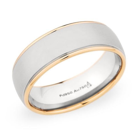 Christian Bauer Wedding Band (18K Rose Gold & Palladium) - Engagement Boston