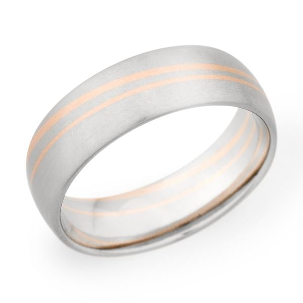 Christian Bauer Wedding Band (Palladium & 14K Gold) - Engagement Boston
