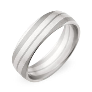 Christian Bauer Wedding Band (Palladium & 18K Grey Gold) - Engagement Boston