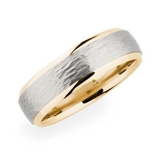 Christian Bauer Wedding Band (Palladium & 18K Rose Gold) - Engagement Boston
