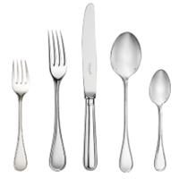 Christofle Albi Flatware 5 Piece Place Setting (1 Remaining) - ENGAGEMENT Boston