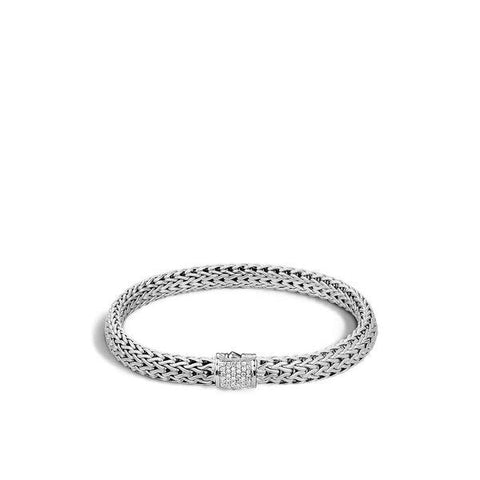 Classic Chain 6.5mm Diamond Pave Bracelet - Boston