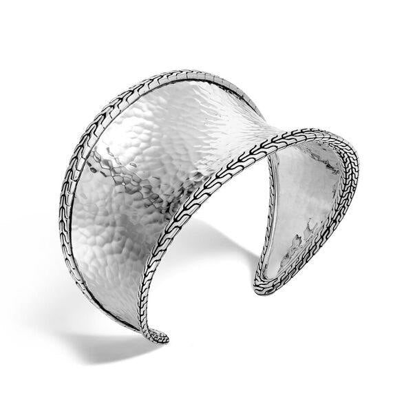 Classic Chain Hammered Cuff - Jewelry Designers Boston