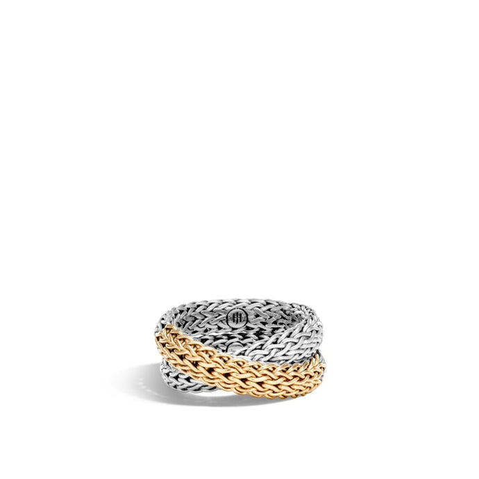 Classic Chain Overlap Ring (Two Tone) - Jewelry Designers Boston