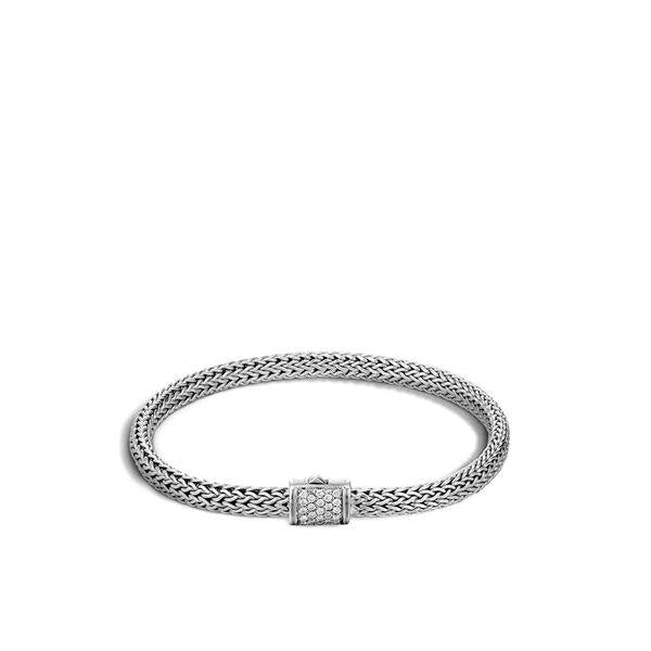 Classic Chain Pave Diamond Bracelet - Jewelry Designers Boston