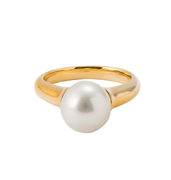 Cultured Pearl Ring (18k Yellow Gold) - JEWELRY Boston