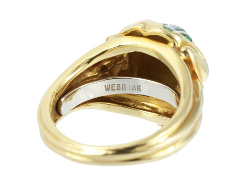 David Webb Enamel Frog Ring - Jewelry Boston