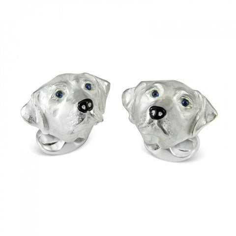 Deakin & Francis~Sterling Silver Labrador Dog Cufflinks - Cufflinks Boston