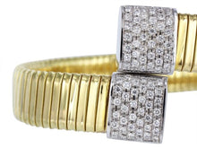 Load image into Gallery viewer, Diamond Bypass Flexible Cuff Bracelet - Jewelry Boston
