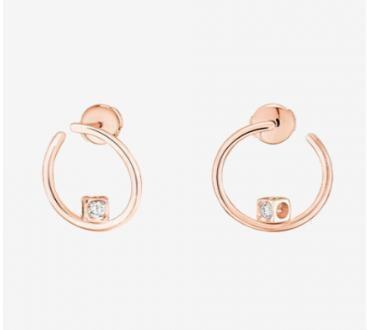dinh van Le Cube Diamant Hoops (PG) with 2 Diamonds - Boston