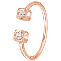 Dinh Van 0.14Ctw Le Cube Diamant Diamond Ring (Pink Gold) - Jewelry Boston