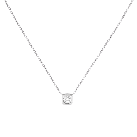 Dinh Van 0.15Ctw Le Cube Diamant Gold Necklace - Jewelry Boston