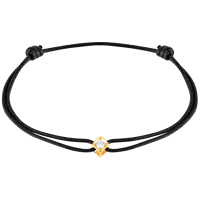 Dinh Van Le Cube Diamant Cord Bracelet (Yellow Gold W/ Diamond) - Jewelry Boston