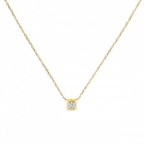 Dinh Van Le Cube Diamant YG Necklace - Boston
