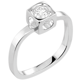 Dinh Van Le Cube Diamant Diamond Ring (White Gold) - Jewelry Boston