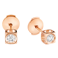 Dinh Van Le Cube Diamant Diamond Stud Earrings - Jewelry Boston
