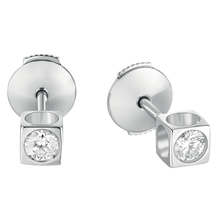 Load image into Gallery viewer, Dinh Van Le Cube Diamant Diamond Stud Earrings - Jewelry Boston