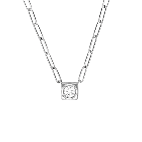 Dinh Van Le Cube Diamant Large Necklace W/ Diamond - Jewelry Boston