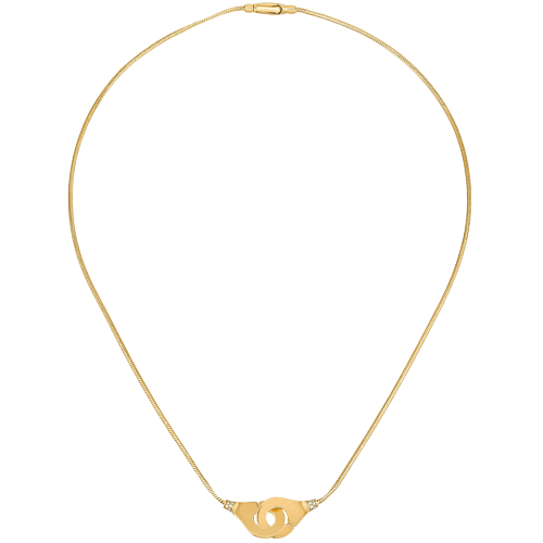 Dinh Van Menottes R12 YG Diamond Necklace - Boston