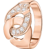 Dinh Van Menottes R12 Ring W/ Diamonds - Jewelry Boston