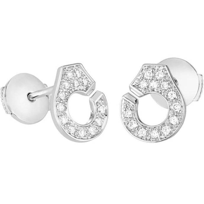 Dinh Van Menottes R7.5 WG Diamond Stud Earrings - Boston