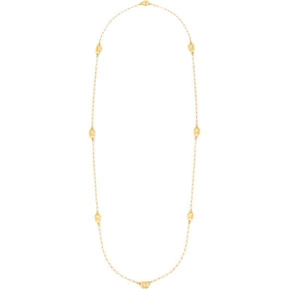 Dinh Van R8 Menottes Long Length Gold Necklace - Jewelry Designers Boston