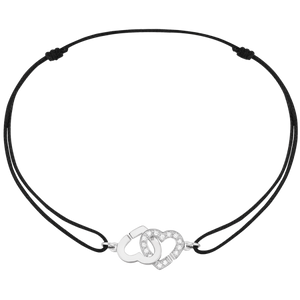Dinh Van R9 Coeurs Cord Bracelet W/ Diamonds - Jewelry Designers Boston