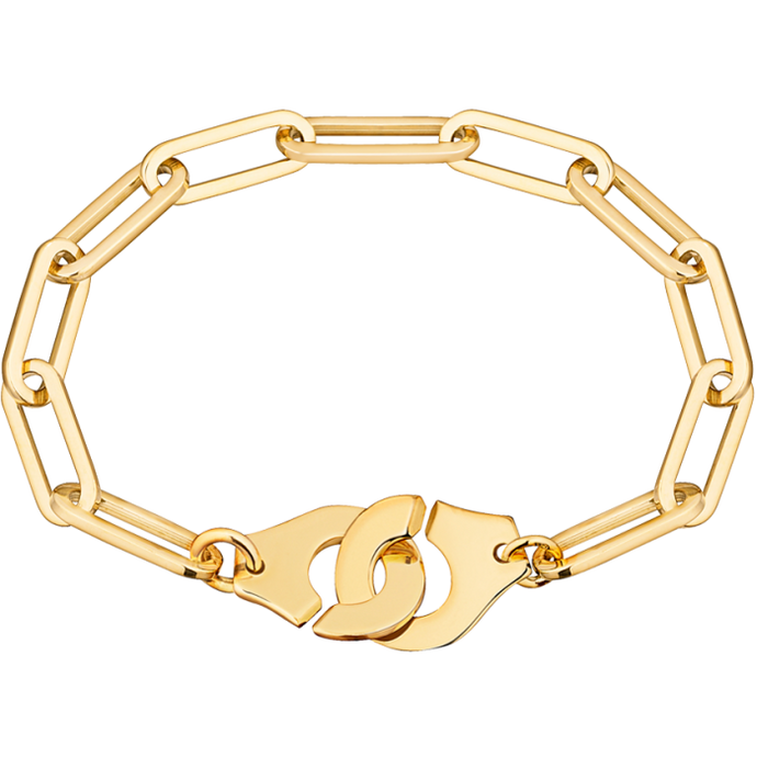 Dinh Van Xl R15 Menottes Gold Bracelet - Jewelry Designers Boston