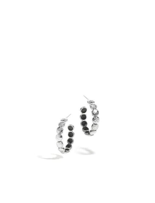 Dot 5mm Disc Small Hoop Earrings - Jewelry Designers Boston