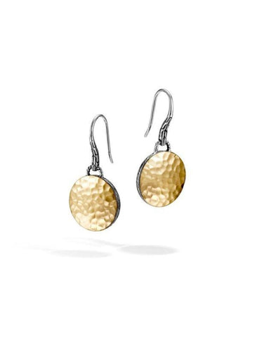 Dot Gold & Silver Drop Earrings (Two Tone) - Jewelry Designers Boston