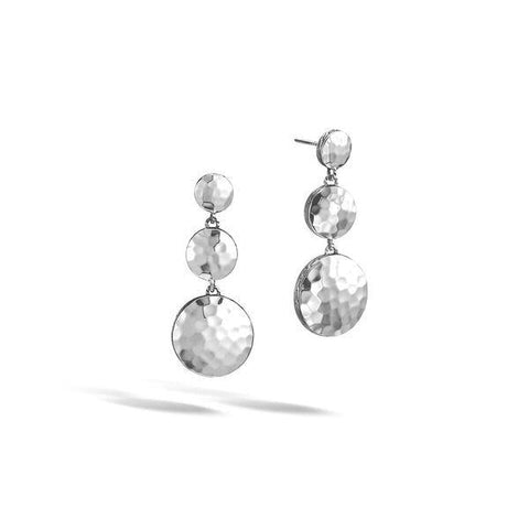 Dot Triple Drop Linear Earrings - Jewelry Designers Boston