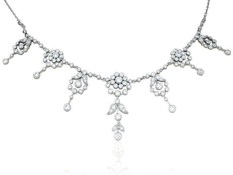 Edwardian Diamond Estate Necklace - Jewelry Boston