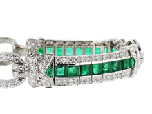 Load image into Gallery viewer, Estate 8.00 Carat Emerald And Diamond Bracelet (Platinum) - Jewelry Boston