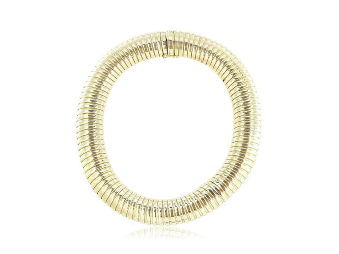 Estate Bvlgari Gold Choker Necklace (18K Yellow Gold) - Jewelry Boston
