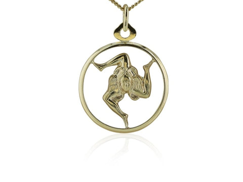 Estate Dancer Pendant (18K Yellow Gold) - Jewelry Boston