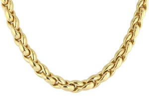 Estate 18kt Gold Heavy Chain Necklace - Boston