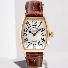 Load image into Gallery viewer, Franck Muller Ladies Cintree Curvex Solid Rose Gold 28mm (7502 QZ) - Boston