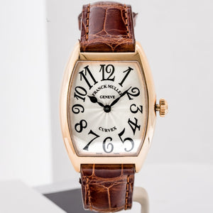 Franck Muller Ladies Cintree Curvex Solid Rose Gold 28mm (7502 QZ) - Boston