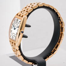 Load image into Gallery viewer, Franck Muller Ladies Cintree Curvex Solid Rose Gold on Bracelet 25mm (1752 QZ) - Boston