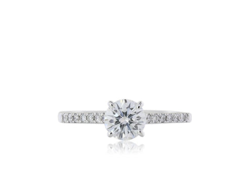 Gia Certified .83 Carat F/vs1 Diamond Engagement Ring - Jewelry Boston