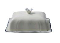 Gien Filet Bleu Butter Dish (1 Remaining) - Engagement Boston