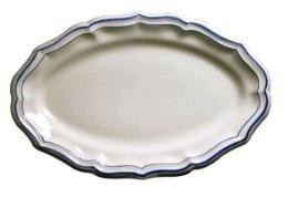 Gien Filet Bleu Oval Platter (1 Remaining) - Engagement Boston