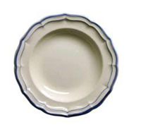 Gien Filet Bleu Rim Soup - Home & Decor Boston