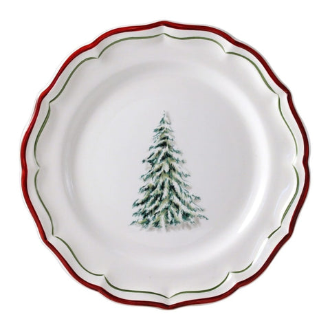 Gien Filet Noel Dessert Plate Set/6 - Home & Decor Boston