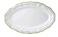Gien Filet Vert Oval Platter (1 Remaining) - Engagement Boston