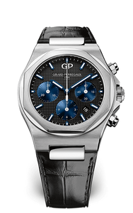Girard-Perregaux Chronograph Laureato 42mm Stainless Steel/Strap (Ref#81020-11-631-BB6A) - WATCHES Boston