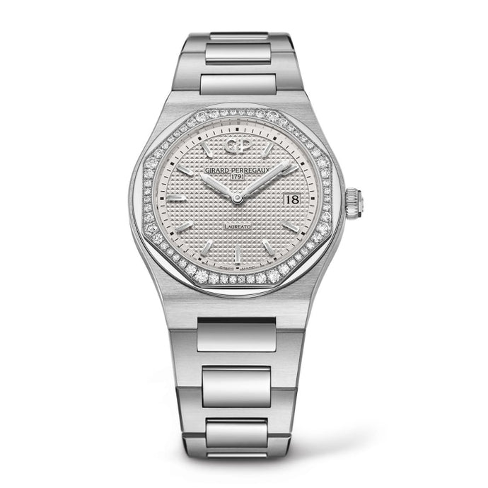 Girard-Perregaux Laureato 34mm Stainless Steel/Diamond Bezel (Ref#80189D11A131-11A) - WATCHES Boston