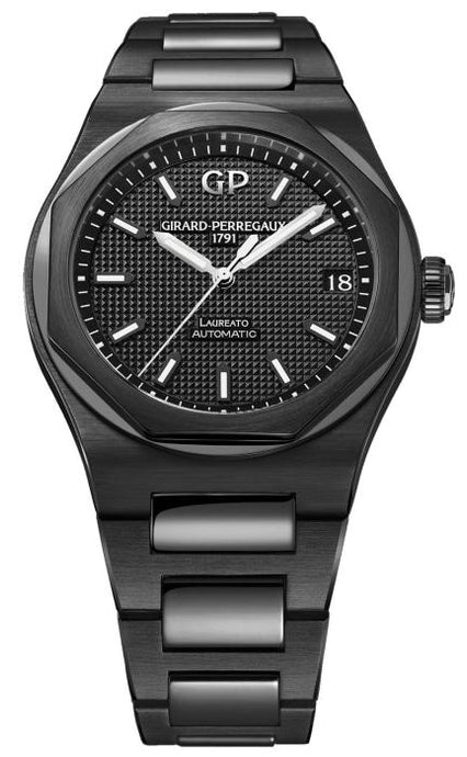 Girard Perregaux Laureato Black Ceramic 42 Black (81010-32-631-32A) - Boston